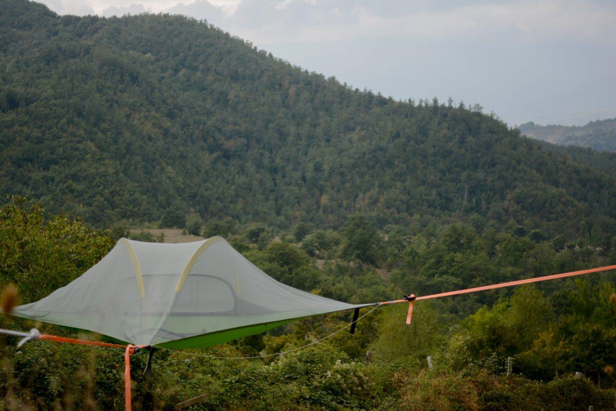 tensile tent view