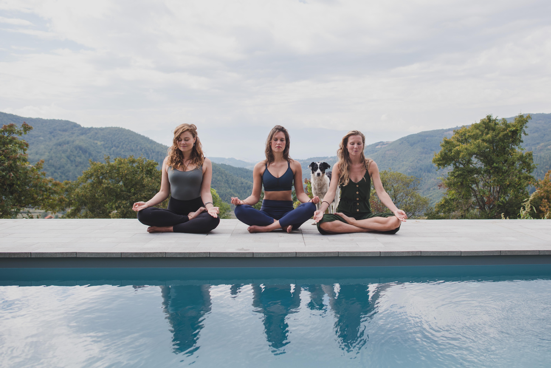 Yoga Retreat Pool Meditation
