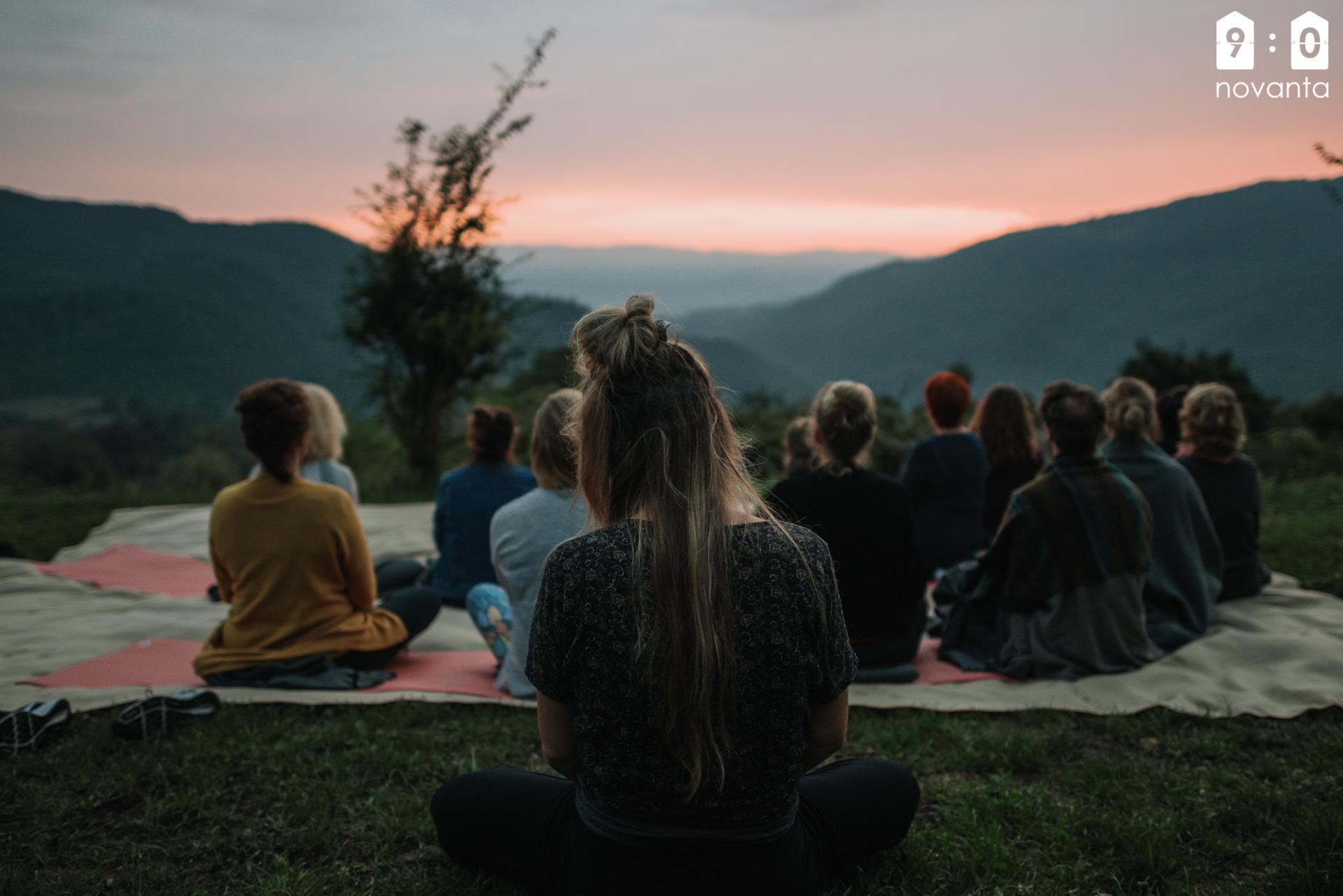 Yoga Retreat Sunset
